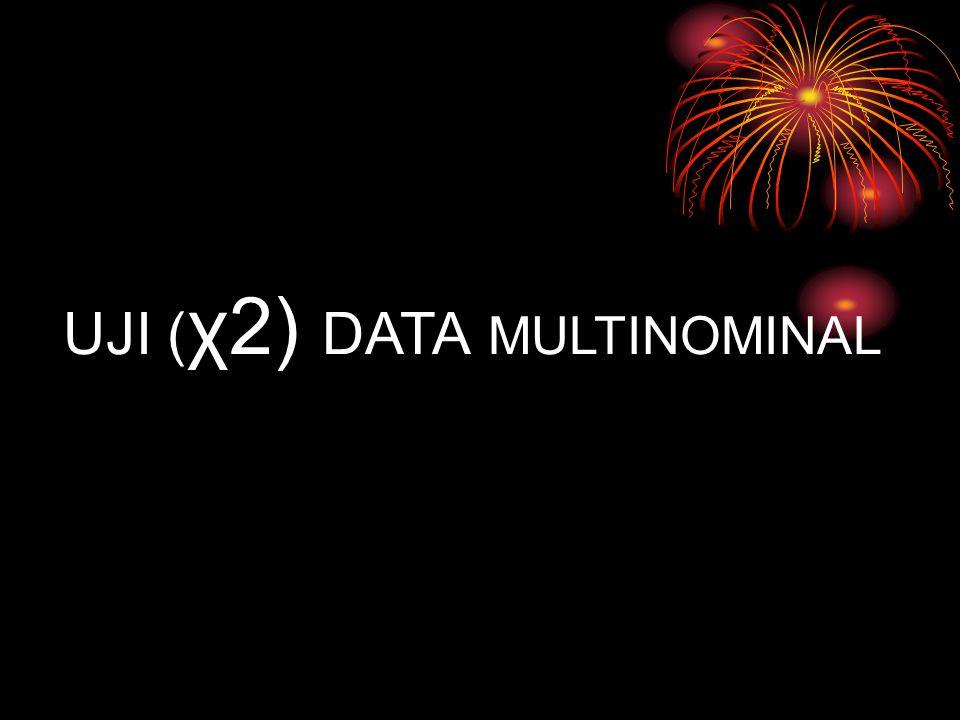 χ2 data multinominal Uji χ2 data multinominal 1.Uji persamaan proporsi 2.