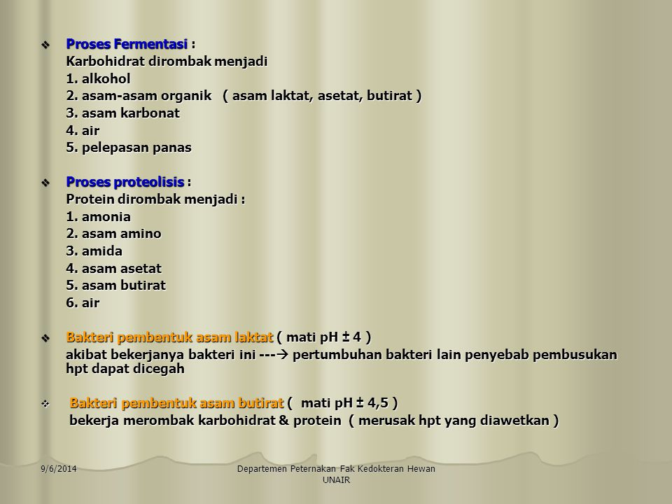 9/6/2014Departemen Peternakan Fak Kedokteran Hewan UNAIR