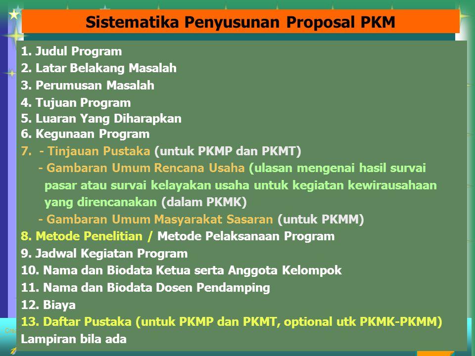Created by : FORMAT HALAMAN PENGESAHAN USUL PROGRAM KREATIVITAS MAHASISWA 1.