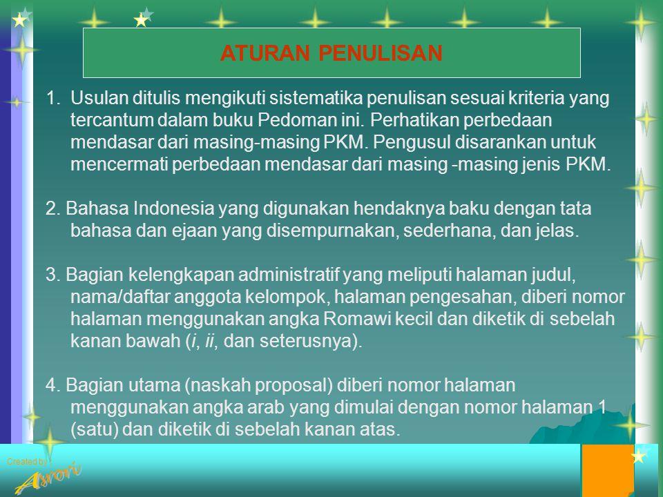 Created by : Bagian inti (lanjutan) H.