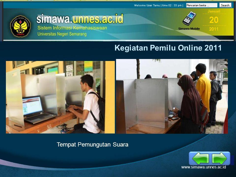 LOGO Kegiatan Pemilu Online 2011 www.simawa.unnes.ac.id Kontestan Pemira BEM KM Unnes