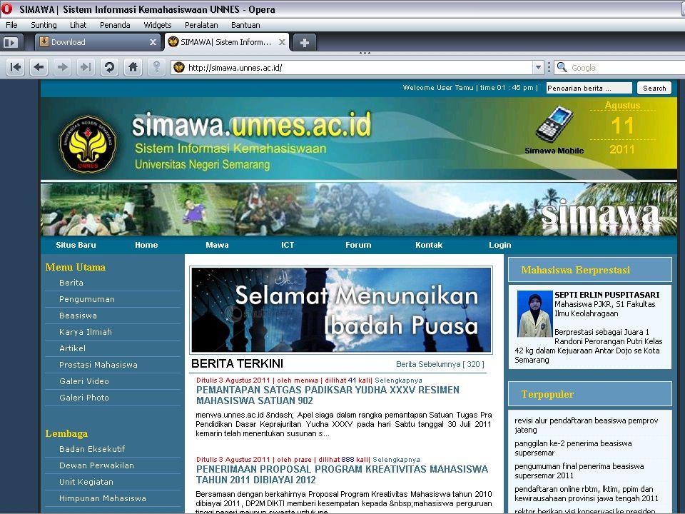 LOGO Kegiatan Pemilu Online 2011 www.simawa.unnes.ac.id Grafik Perolehan Suara Total Pemilu BEM FMIPA