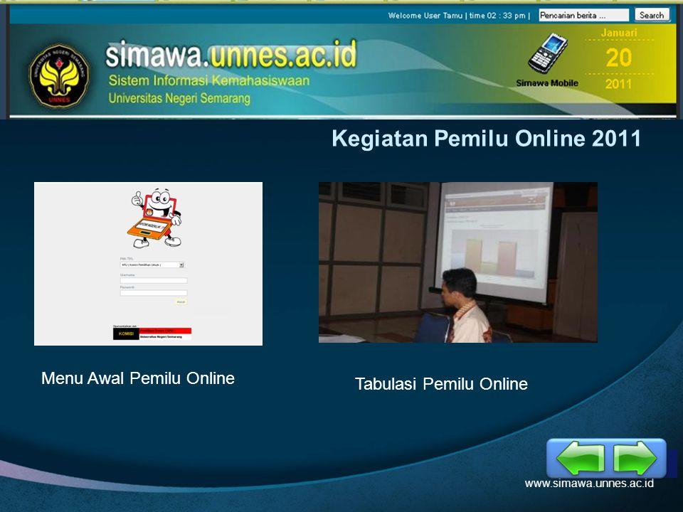 LOGO Kegiatan Pemilu Online 2011 www.simawa.unnes.ac.id Menu Awal Pemilu Online Tabulasi Pemilu Online