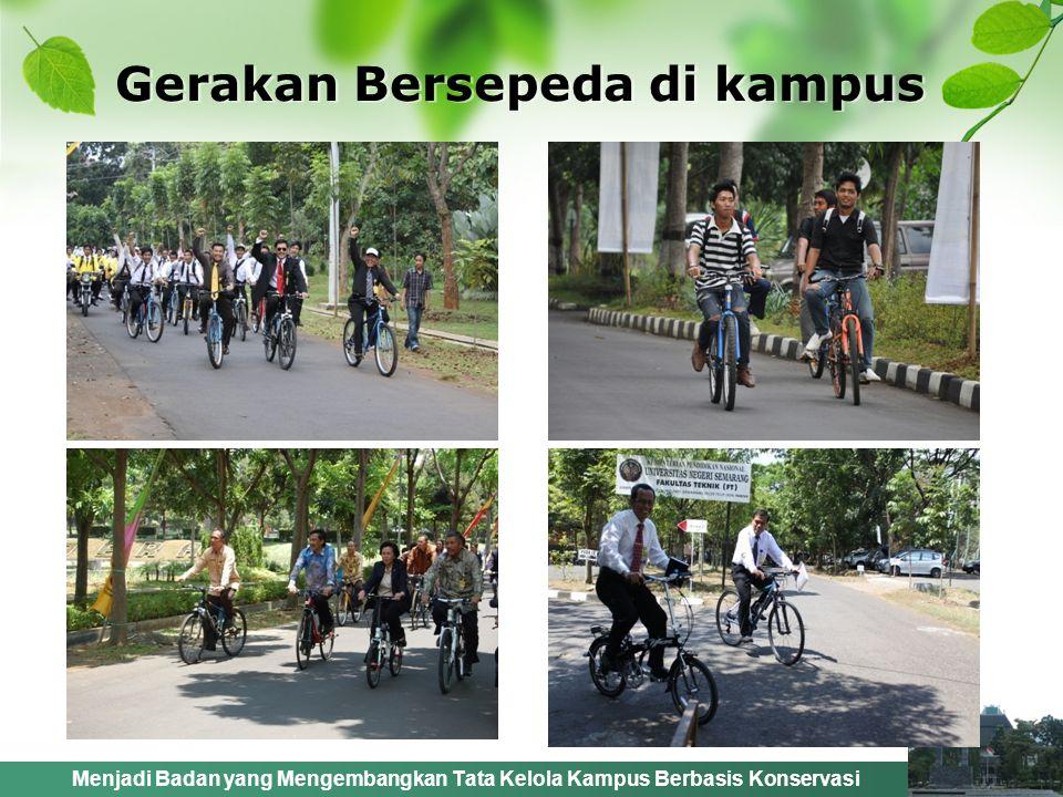 Menjadi Badan yang Mengembangkan Tata Kelola Kampus Berbasis Konservasi Gerakan Bersepeda di kampus