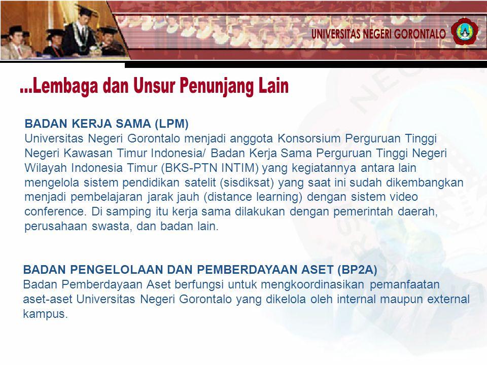 BADAN KERJA SAMA (LPM) Universitas Negeri Gorontalo menjadi anggota Konsorsium Perguruan Tinggi Negeri Kawasan Timur Indonesia/ Badan Kerja Sama Pergu