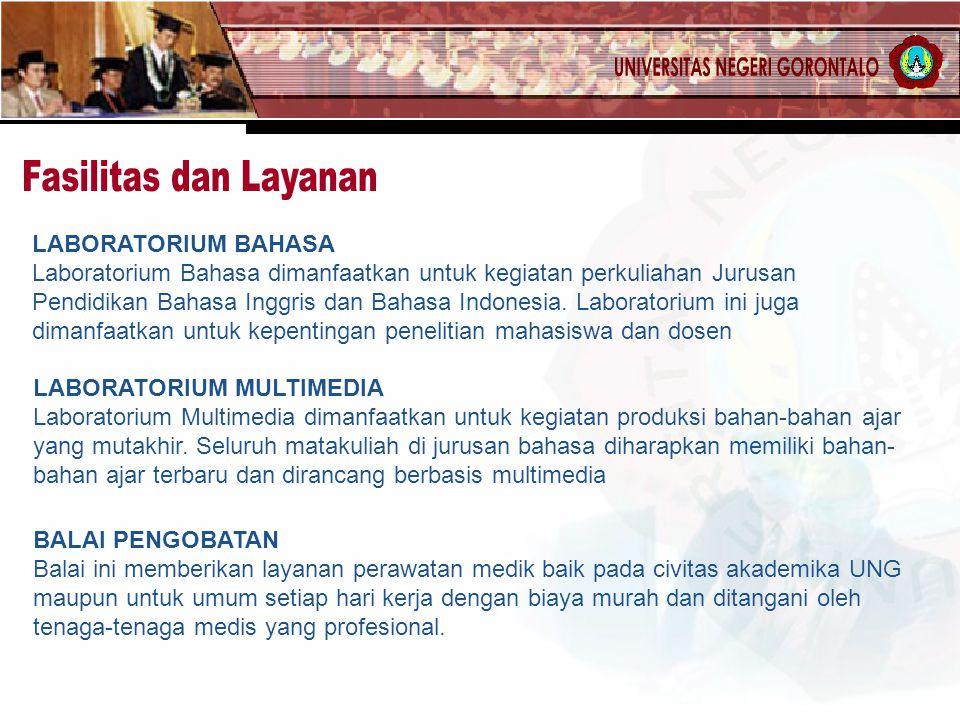 LABORATORIUM BAHASA Laboratorium Bahasa dimanfaatkan untuk kegiatan perkuliahan Jurusan Pendidikan Bahasa Inggris dan Bahasa Indonesia. Laboratorium i