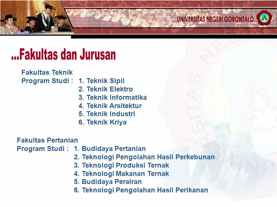 Fakultas Pertanian Program Studi : 1.Budidaya Pertanian 2.