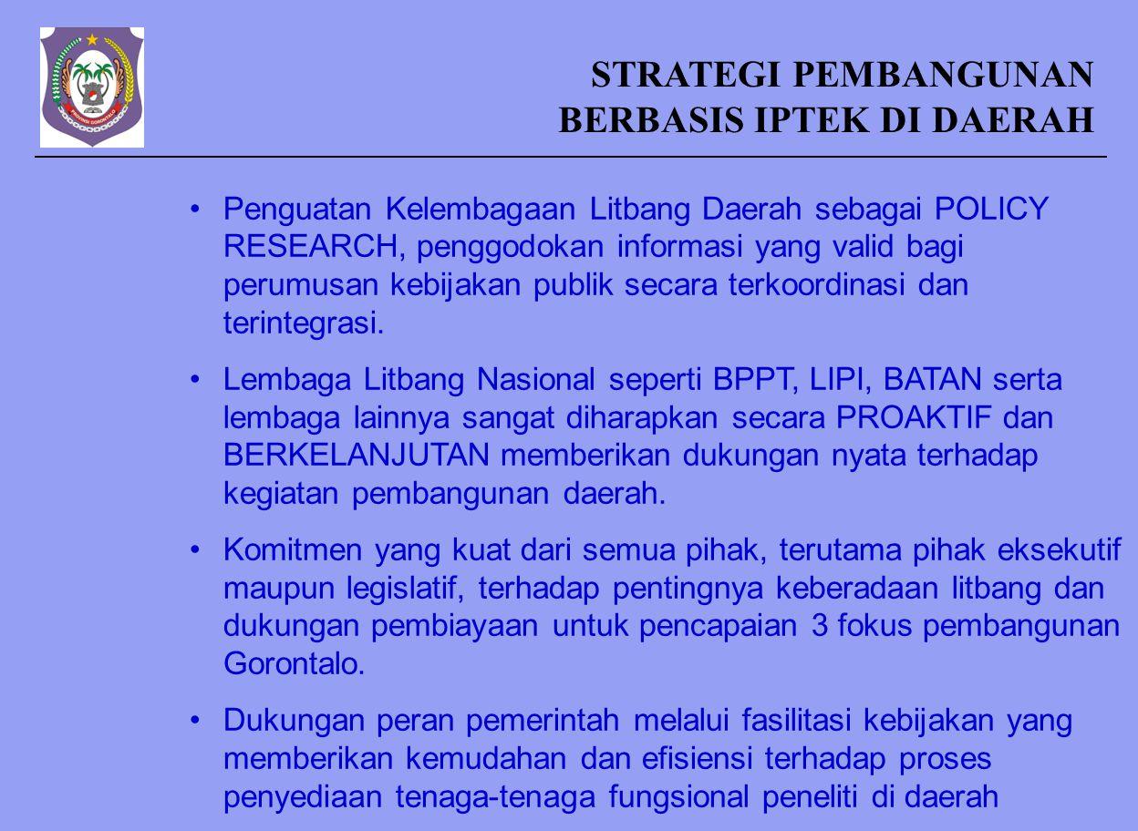 Fungsi dan Peran Pemerintah Daerah UU No. 18 Tahun 2002 (Sistem Nasional Penelitian, Pengembangan dan IPTEK) Pasal 20 -Pemerintah daerah berfungsi men