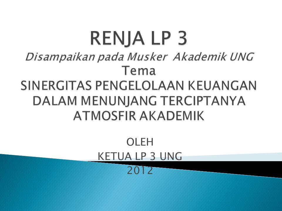 OLEH KETUA LP 3 UNG 2012
