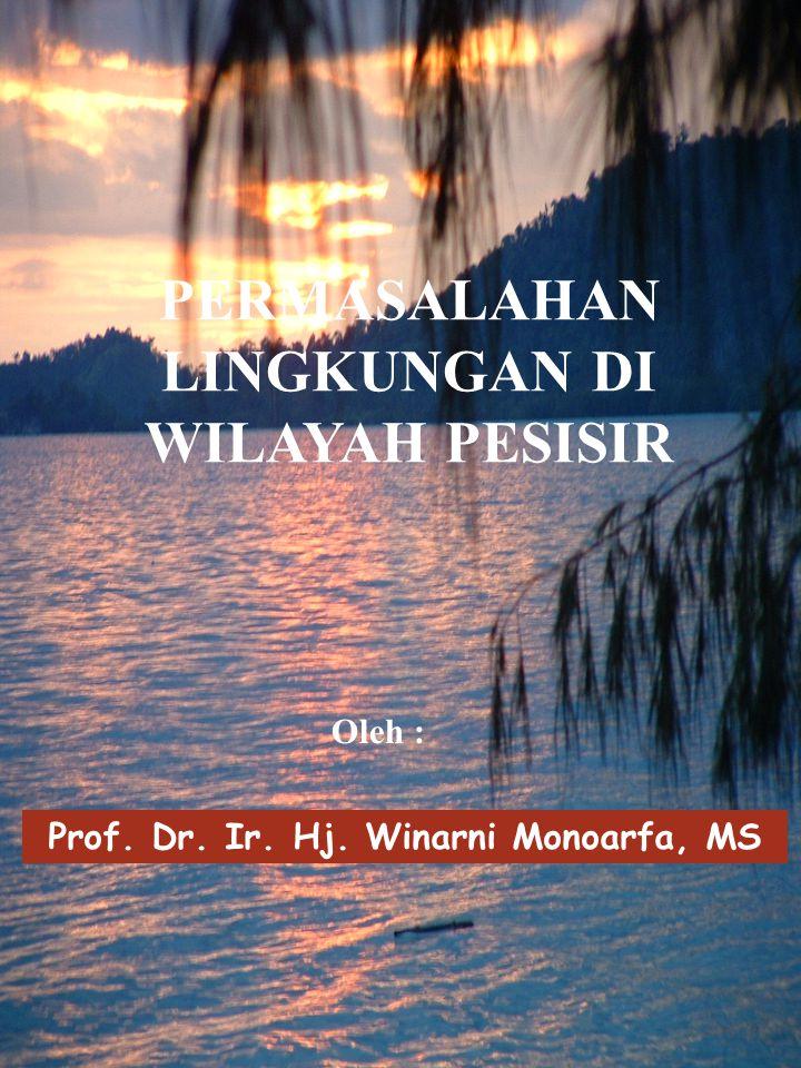 Prof. Dr. Ir. Hj. Winarni Monoarfa, MS PERMASALAHAN LINGKUNGAN DI WILAYAH PESISIR Oleh :