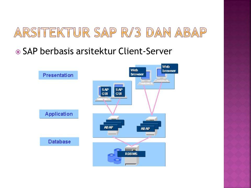  SAP berbasis arsitektur Client-Server