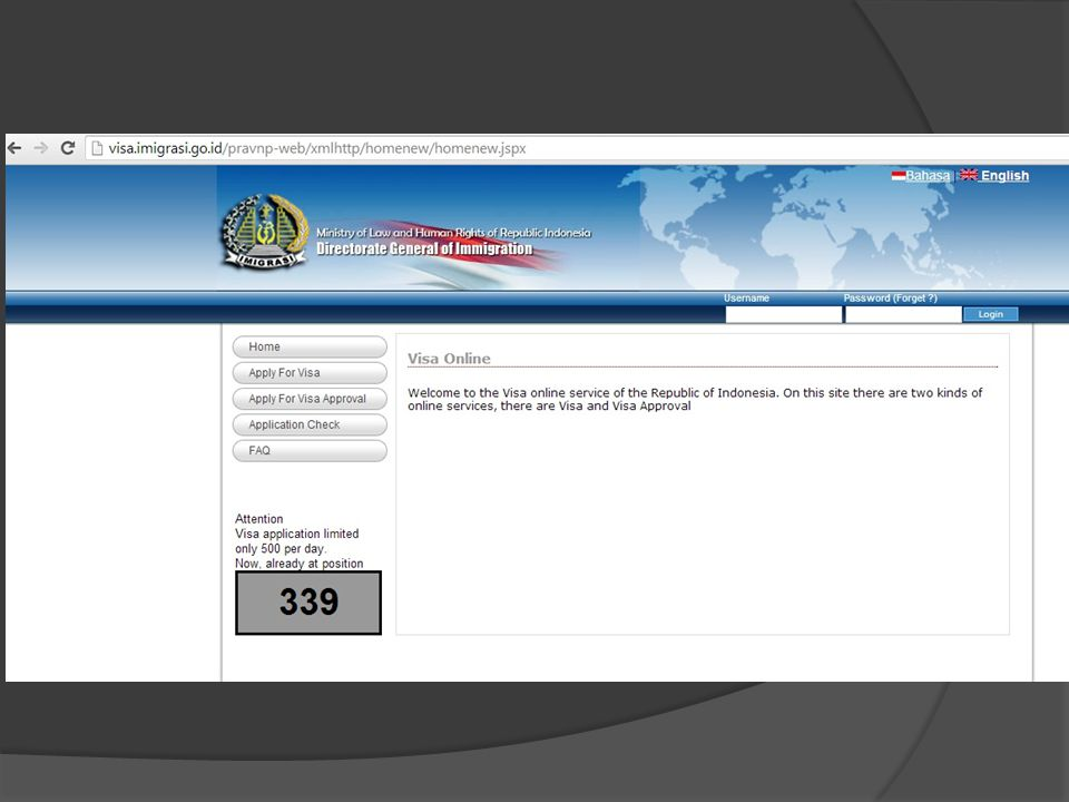  Contoh Halaman Pengajuan Visa Online