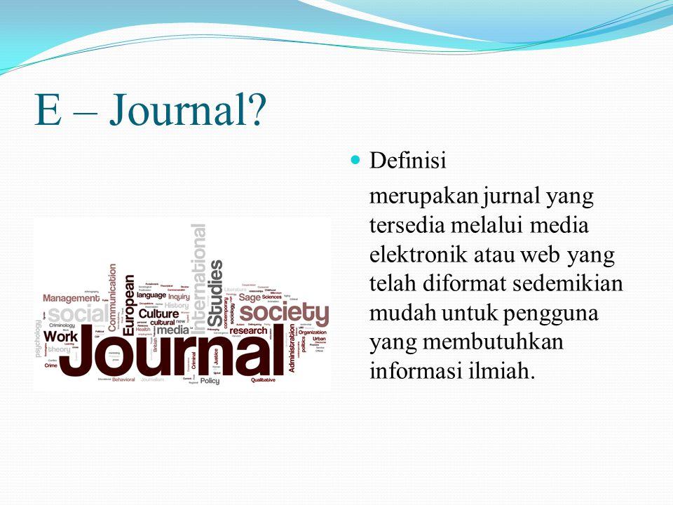 E – Journal.