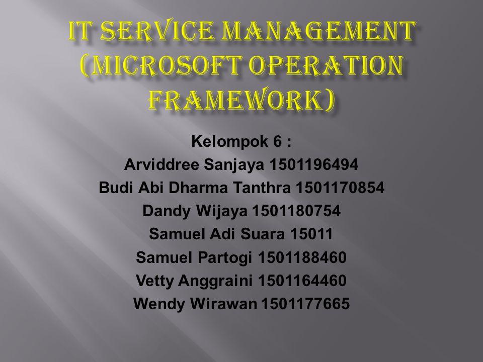 ITSM ITSM ( Information Technology Service Management) adalah suatu metode pengelolaan sistem teknologi informasi (TI) yang secara filosofis terpusat pada perspektif konsumen layanan TI terhadap bisnis perusahaan