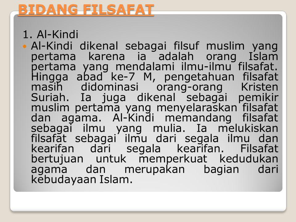 BIDANG FILSAFAT 1.