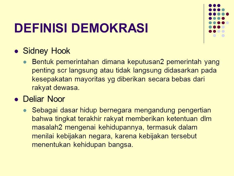 Demokrasi --- Pemerintahan Pemerintahan dari rakyat (Gov.