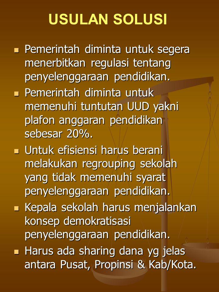 Komite Sekolah harus faham dan menjalankan tugas pokok serta fungsinya.