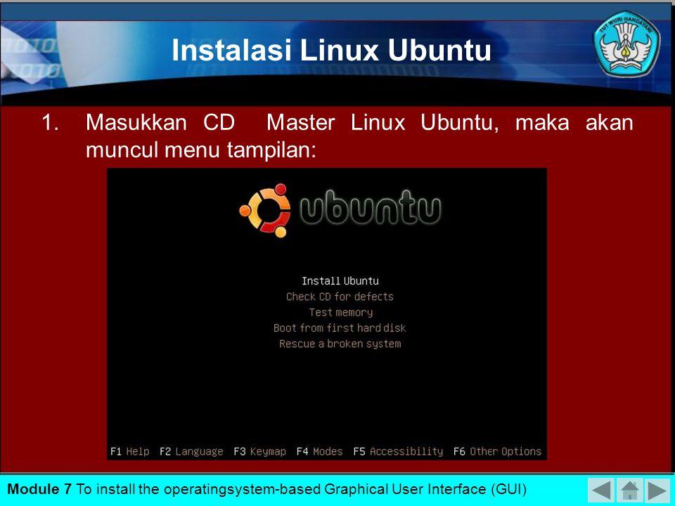 TUJUAN Siswa dapat Melaksanakan instalasi sistem operasi berbasis text sesuai Installation Manual. POKOK BAHASAN Melaksanakan instalasi sistem operasi