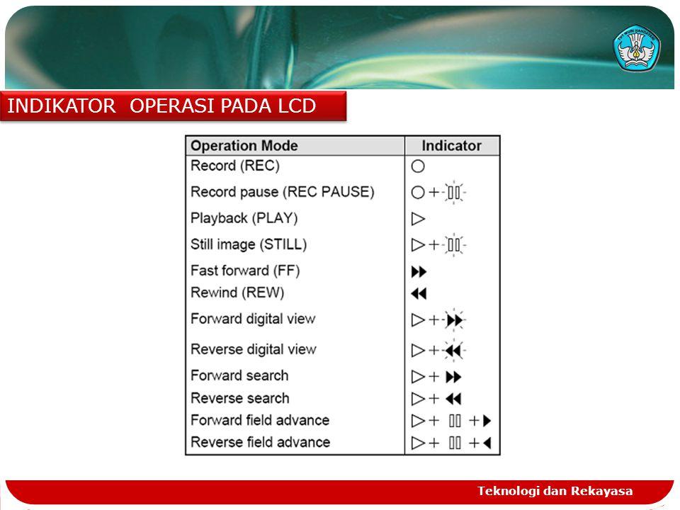 Teknologi dan Rekayasa INDIKATOR OPERASI PADA LCD