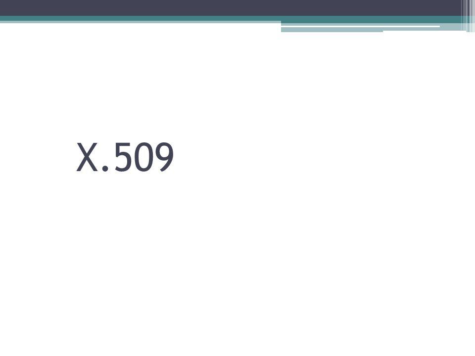 X509 adalah format sertifikat yang paling banyak digunakan saat ini.