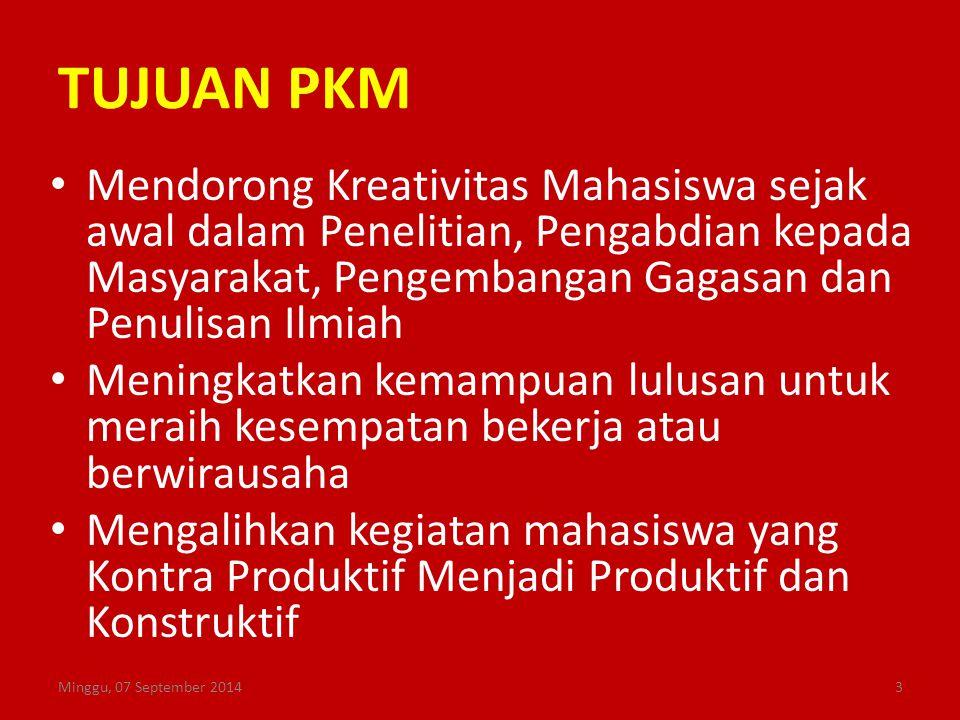 Konsep Dasar PKM Keahlian Sikap Tanggung Jawab Kerjasama Tim Kemampuan Minggu, 07 September 20144 Kegiatan yang cerdas dan kreatif dalam Bidang Ilmu Yang Ditekuni