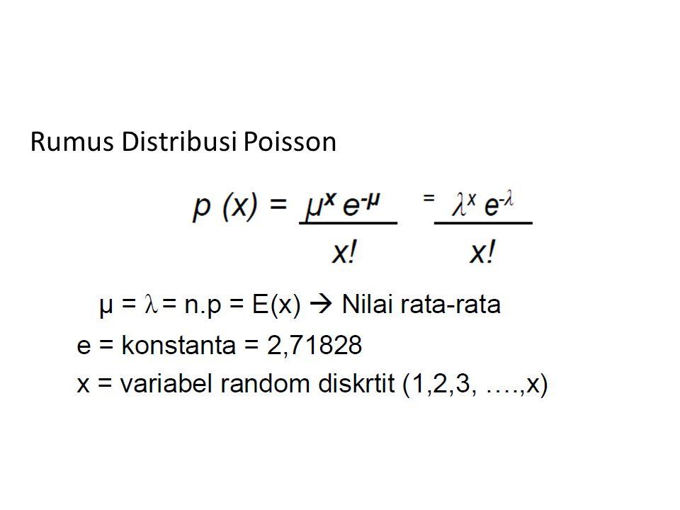 Rumus Distribusi Poisson