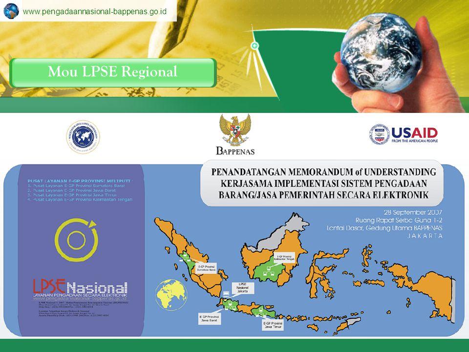 LPSENasional LPSEDepartemen LPSERegional Konfigurasi LPSE www.pengadaannasional-bappenas.go.id