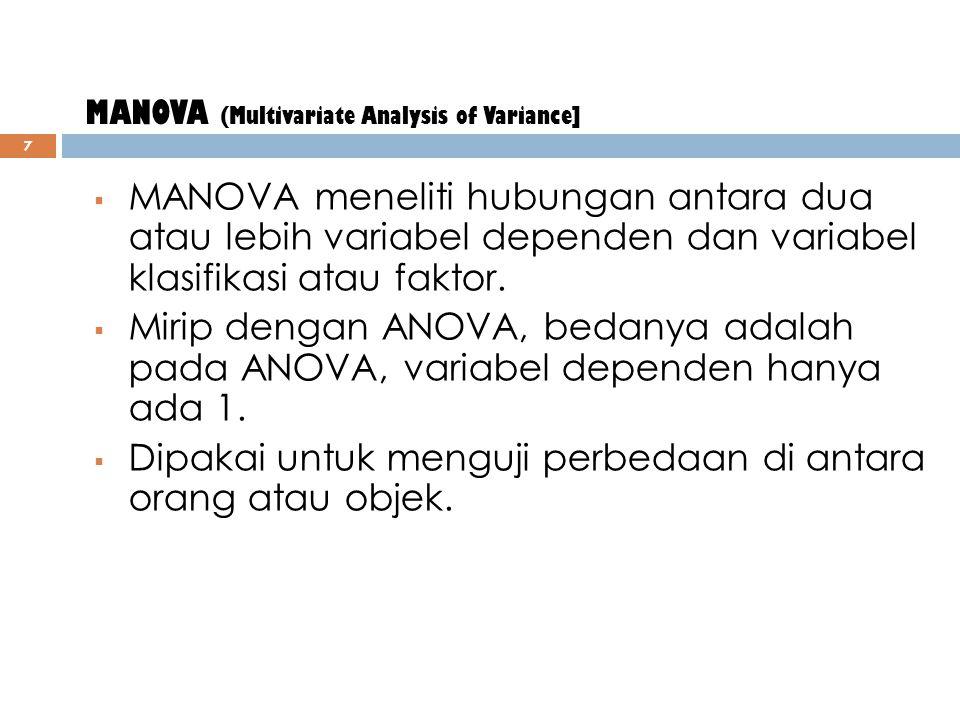 Contoh Analisis Diskriminan 6 Pembeli Produk KeuanganMeanStd DeviationValid N (Litswise) TabunganUsia (x1) Pendapatan (x2) Pengeluaran (x3) ReksadanaU