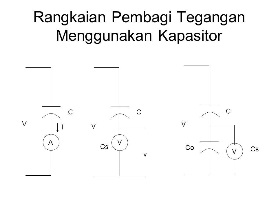 Rangkaian Pembagi Tegangan Menggunakan Kapasitor A V I V V v Cs V V CC C Co