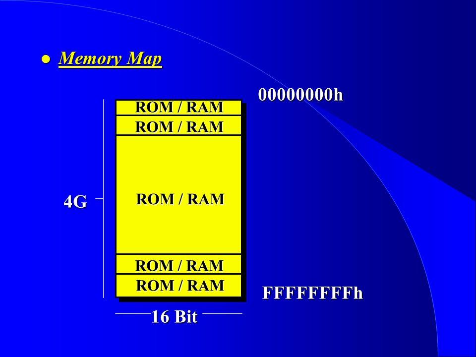l Memory Map ROM / RAM ROM / RAM 00000000hFFFFFFFFh ROM / RAM 4G 16 Bit
