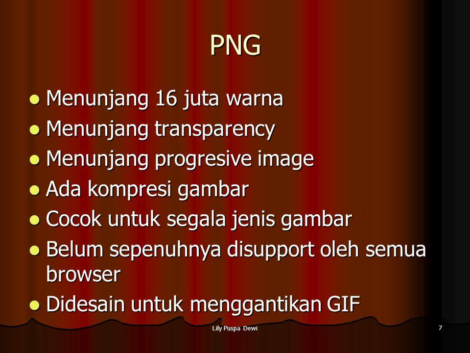 Lily Puspa Dewi 7 PNG Menunjang 16 juta warna Menunjang 16 juta warna Menunjang transparency Menunjang transparency Menunjang progresive image Menunja