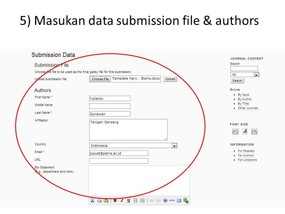 6) Masukan data title, abstract & Indexing lalu save