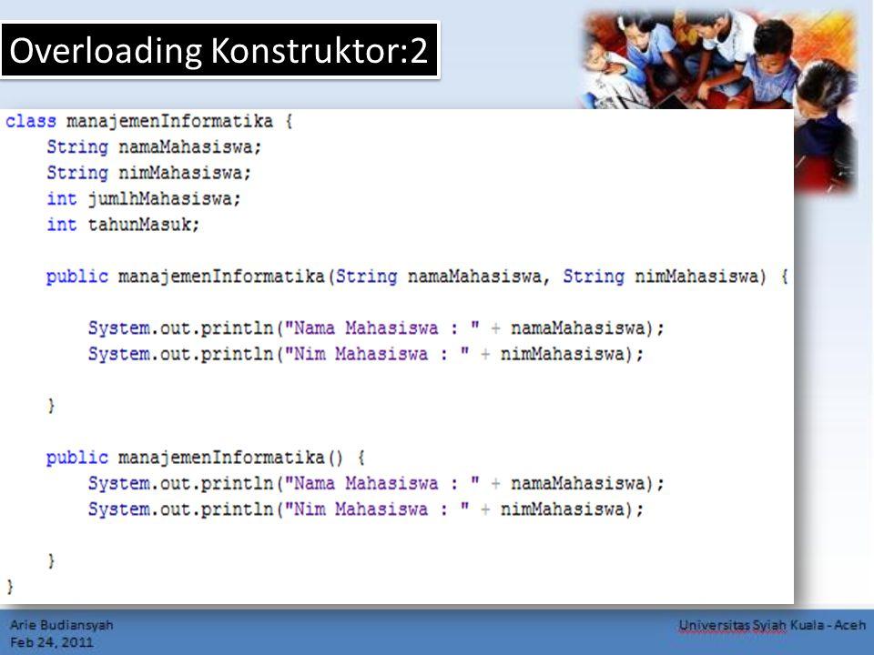 Overloading Konstruktor:2