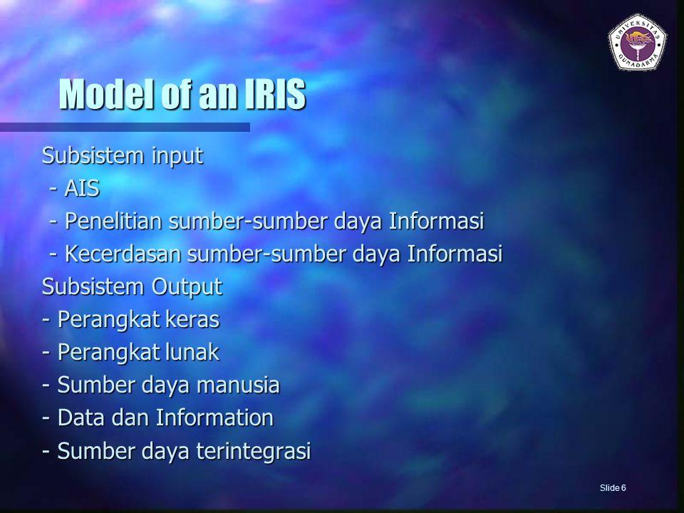 Pencapaian Kualitas Produk dan Layanan 5) Terapkan bermacam-macam implementasi program kualitas IS dengan perusahaan 6) Monitor kualitas IS Kinerja dari spesialis IS dan unit Slide 17