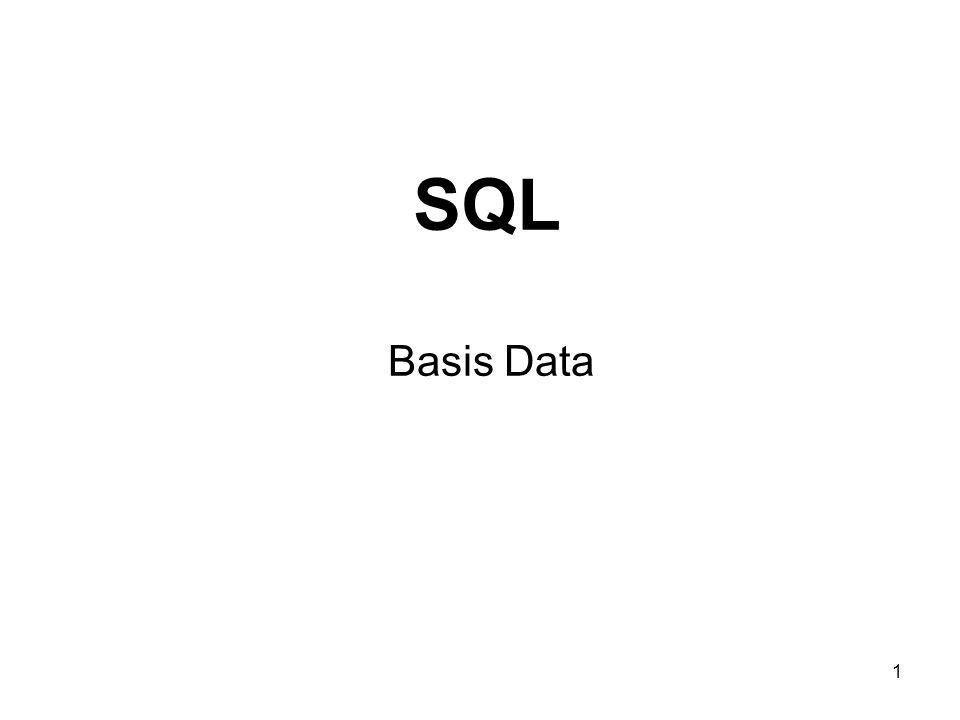 1 SQL Basis Data