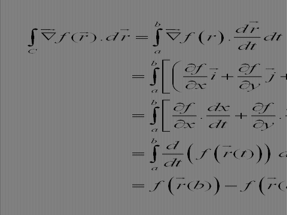 Jika untuk titik-titik ujung r (a) dan r (b) pada persamaan sebelumnya ditulis sebagai A dan B, maka persamaan tersebut bisa ditulis dalam bentuk