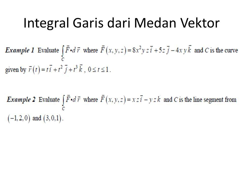 Integral Garis dari Medan Vektor