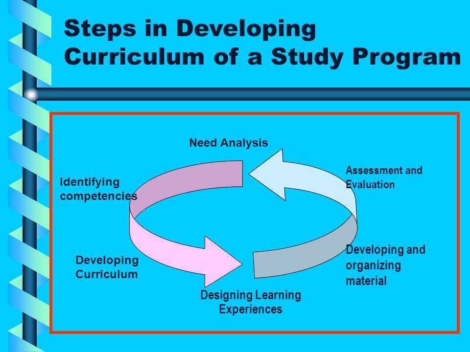 Covers: Student's need Professional need Need of subject matter area 1. Needs Analysis