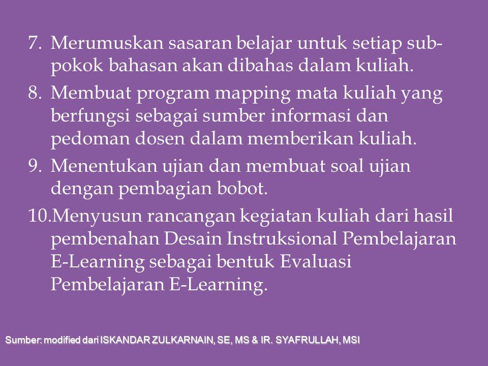 1. Mengumpulkan informasi tentang lingkup, isi, persyaratan silabus/kurikulum, dan informasi lain yang berkaitan dengan mata kuliah yang akan diajarka