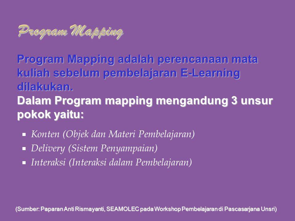 Penyusunan Program Mapping Mata Kuliah Pembelajaran E-Learning Pelatihan Bahan Ajar Berbasis E-Learning Pusbangdik Universitas Sriwijaya Inderalaya, 3