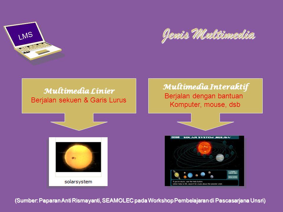 LMS (Sumber: Paparan Anti Rismayanti, SEAMOLEC pada Workshop Pembelajaran di Pascasarjana Unsri)