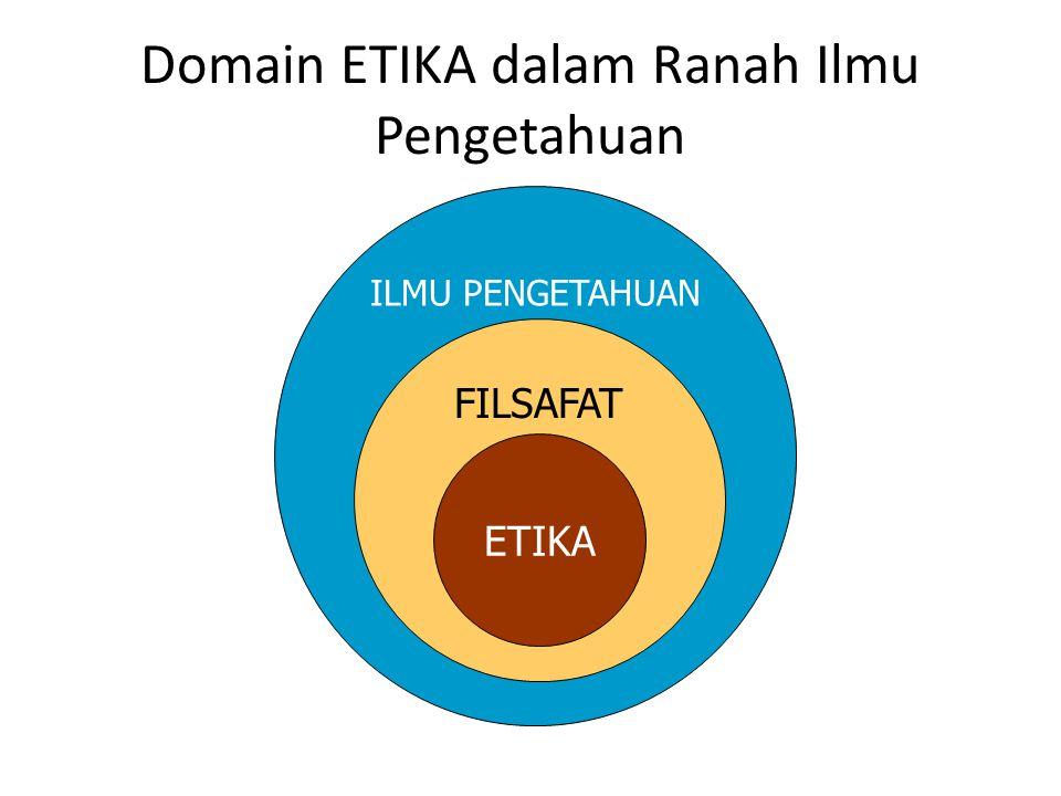 Domain ETIKA dalam Ranah Ilmu Pengetahuan ILMU PENGETAHUAN FILSAFAT ETIKA