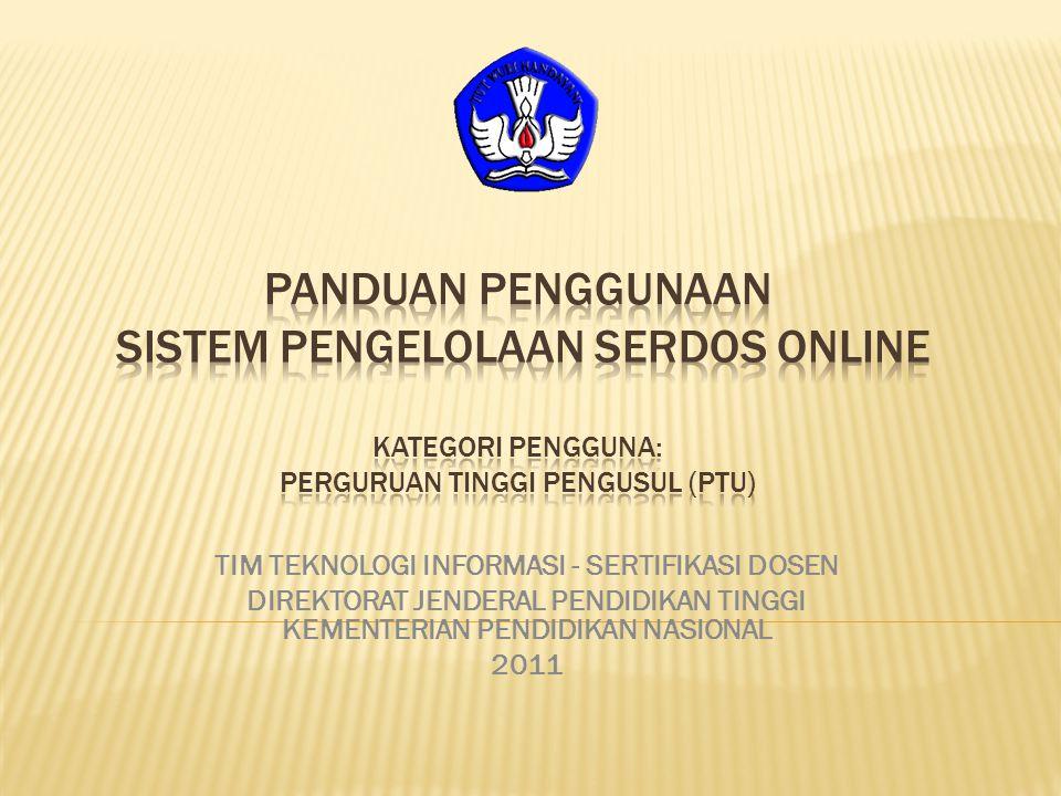 TIM TEKNOLOGI INFORMASI - SERTIFIKASI DOSEN DIREKTORAT JENDERAL PENDIDIKAN TINGGI KEMENTERIAN PENDIDIKAN NASIONAL 2011