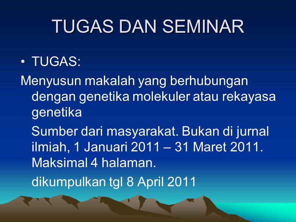 KEPUSTAKAAN Bambang Irawan (2008).Genetika Molekuler.