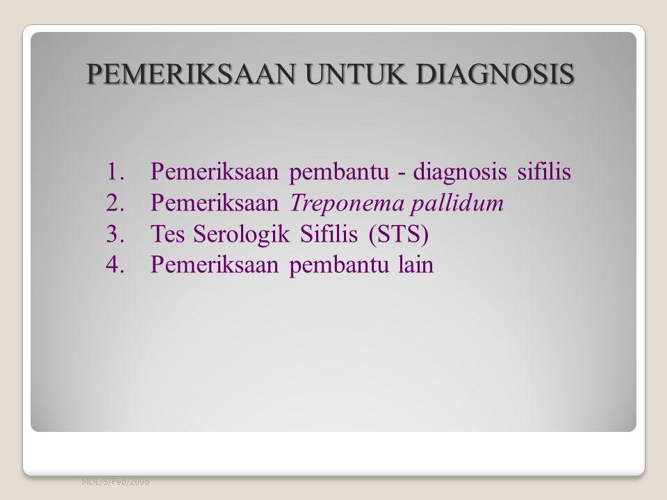 MDL/S/Peb/2006 PEMERIKSAAN UNTUK DIAGNOSIS PEMERIKSAAN UNTUK DIAGNOSIS 1.