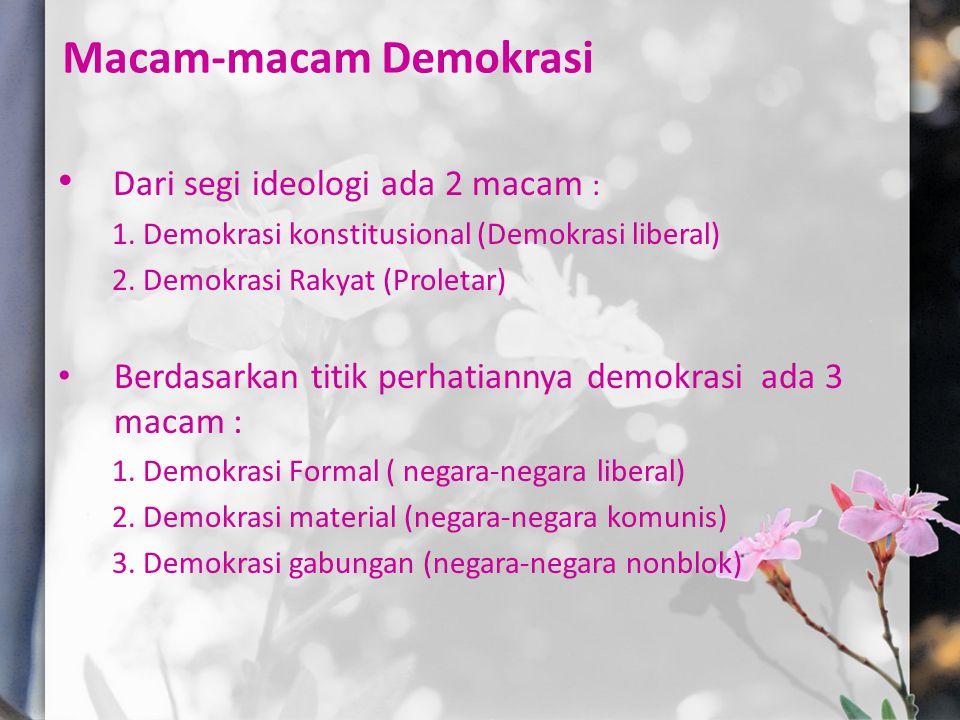 Pelaksanaan Demokrasi di Indonesia Masa Orde Lama 1.Demokrasi Parlementer / Liberal (RIS dan UUD 1950) 2.Demokrasi Terpimpin 5 Juli 1959-1966