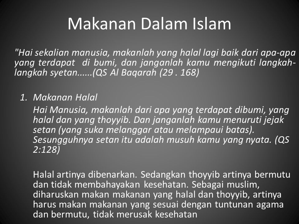 Makanan Dalam Islam