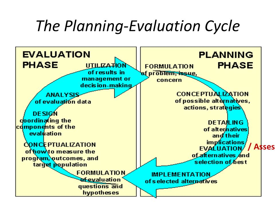 The Planning-Evaluation Cycle / Assessment