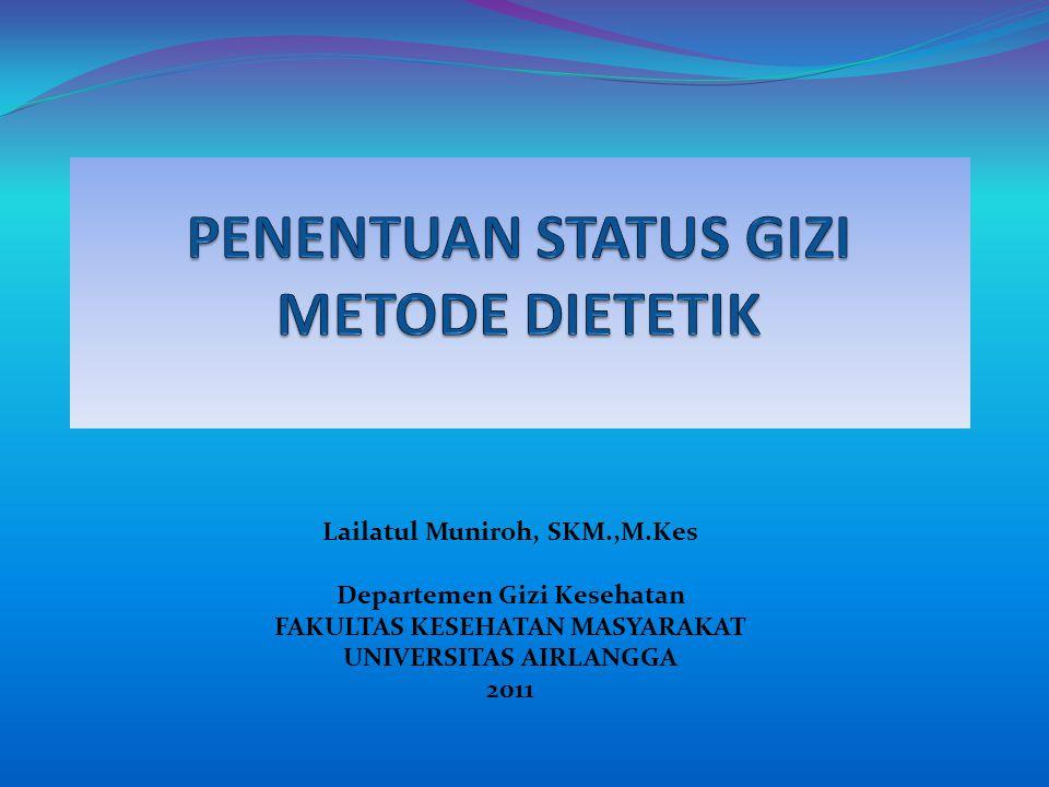 Lailatul Muniroh, SKM.,M.Kes Departemen Gizi Kesehatan FAKULTAS KESEHATAN MASYARAKAT UNIVERSITAS AIRLANGGA 2011