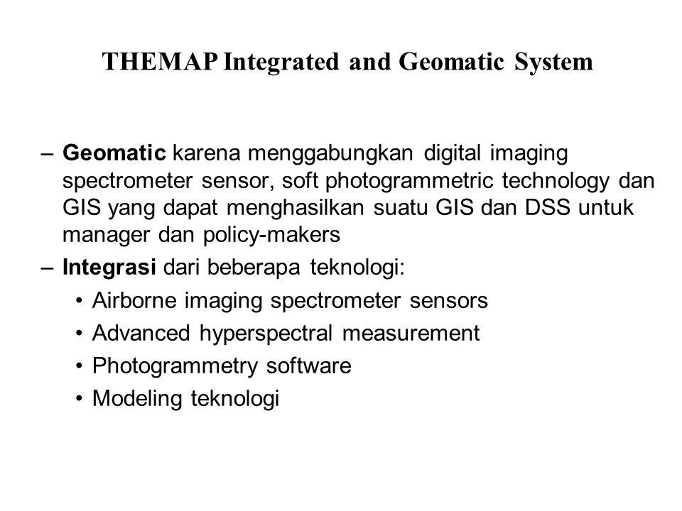 –Geomatic karena menggabungkan digital imaging spectrometer sensor, soft photogrammetric technology dan GIS yang dapat menghasilkan suatu GIS dan DSS
